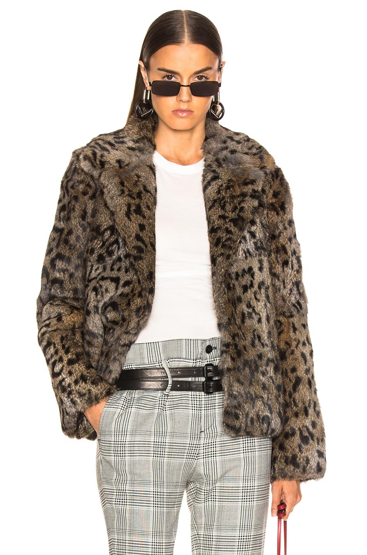 Image 1 of RtA Saffron Fur Coat in Feline