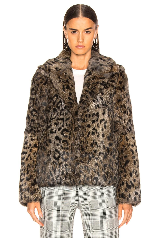 Image 2 of RtA Saffron Fur Coat in Feline