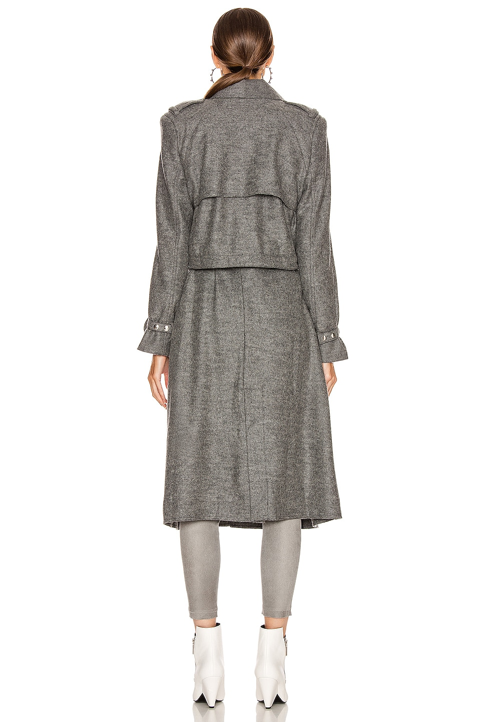 Image 4 of RtA Harlow Coat in Grey