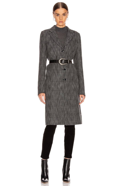 Image 1 of RtA Jamson Coat in Black White Check