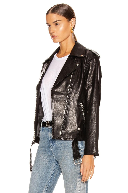 Image 4 of RtA Eryn Leather Jacket in Black Wet