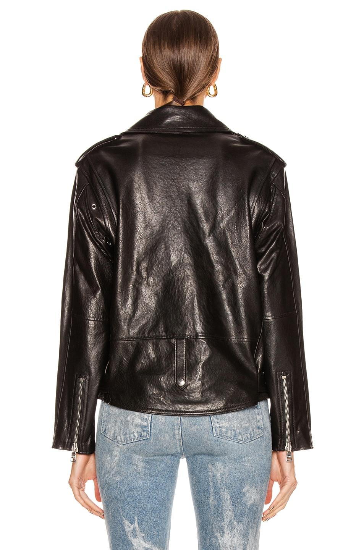 Image 5 of RtA Eryn Leather Jacket in Black Wet