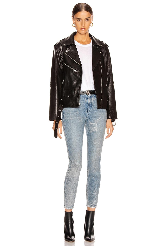 Image 6 of RtA Eryn Leather Jacket in Black Wet