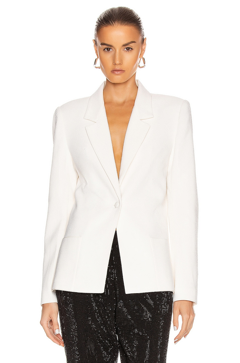 Image 1 of RtA Sasha Blazer Jacket in White Stone