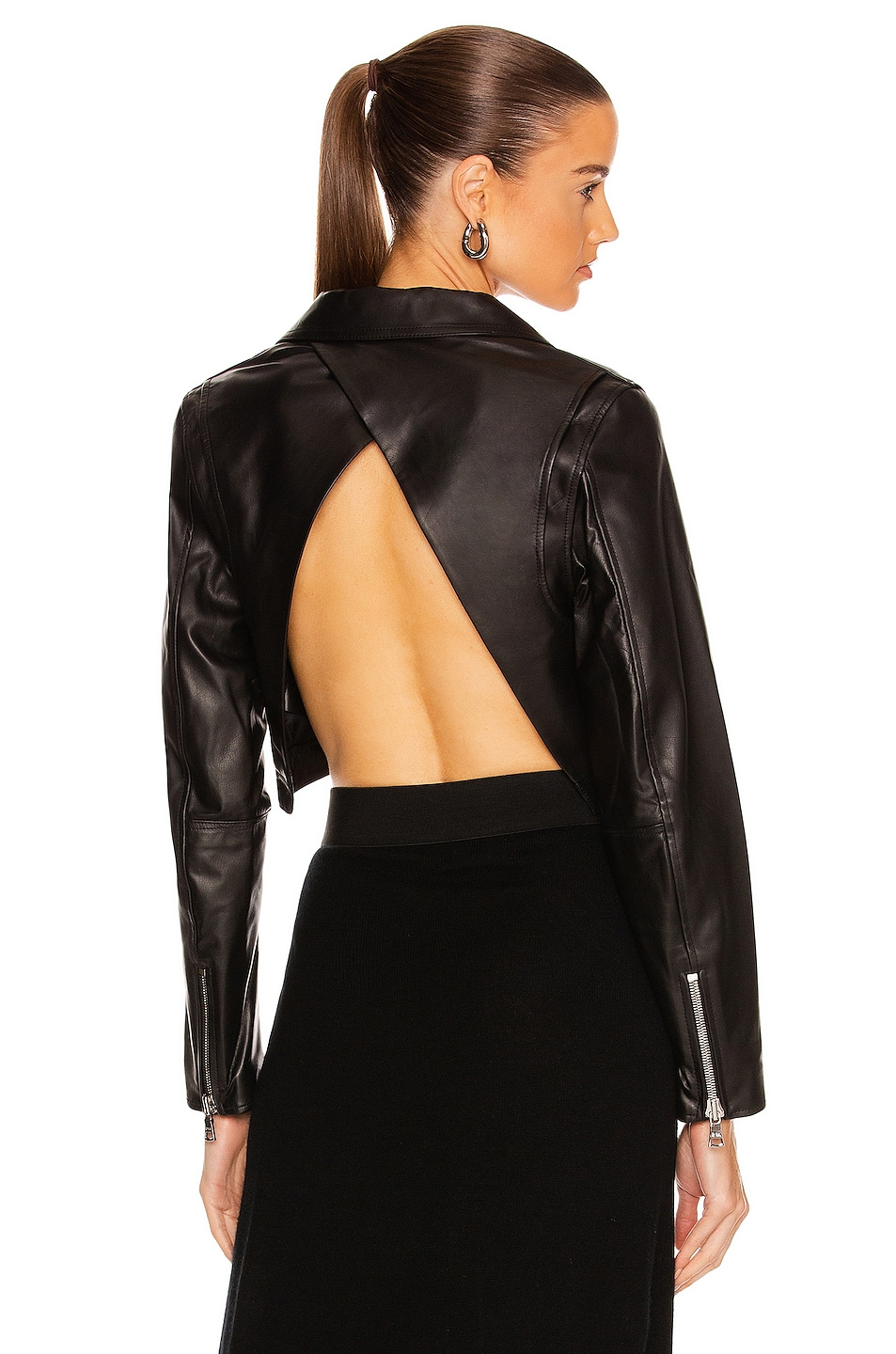 Image 1 of RtA Kennedy Leather Jacket in Black