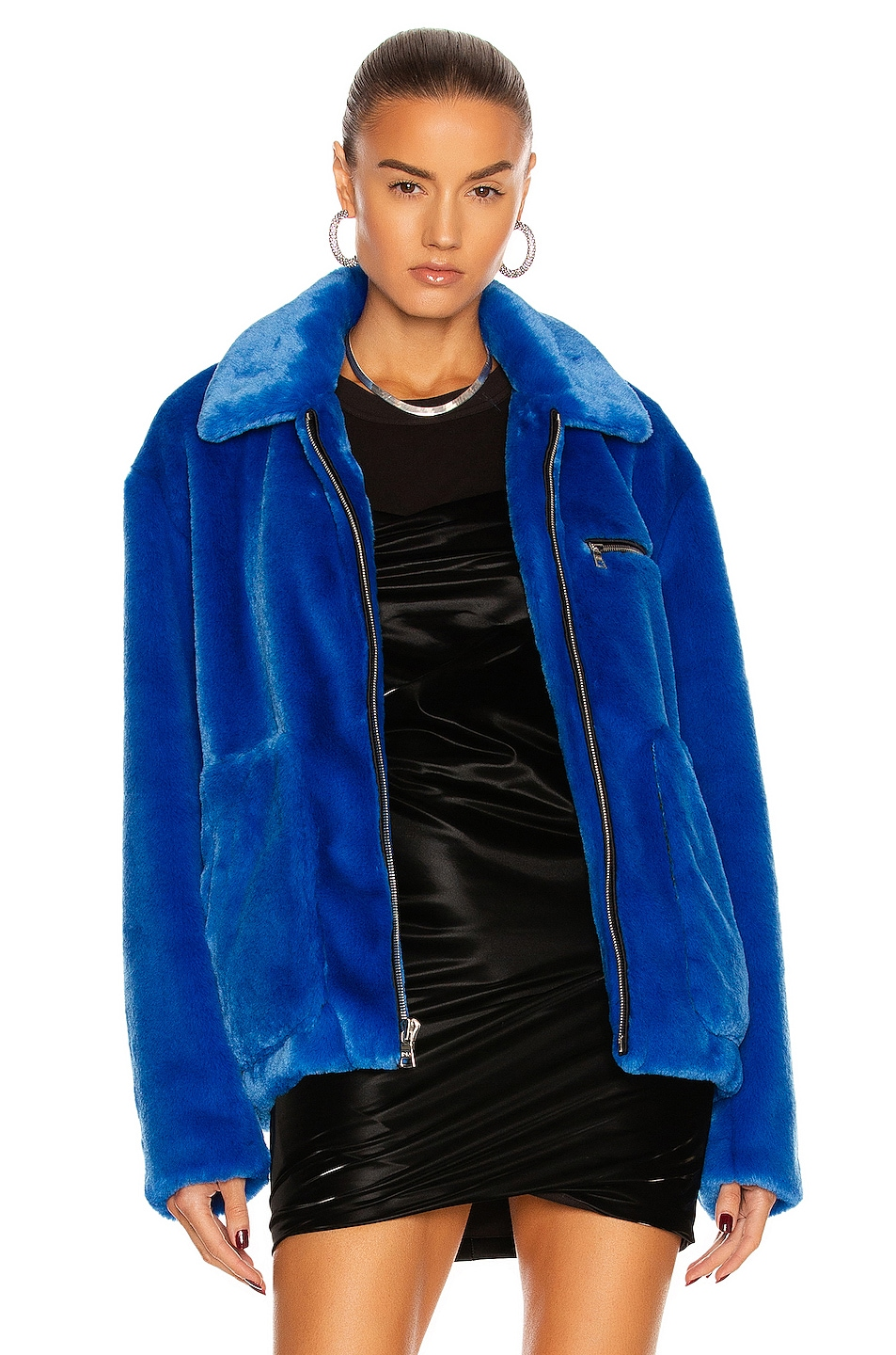Image 1 of RtA Reese Jacket in Magnetic Blue