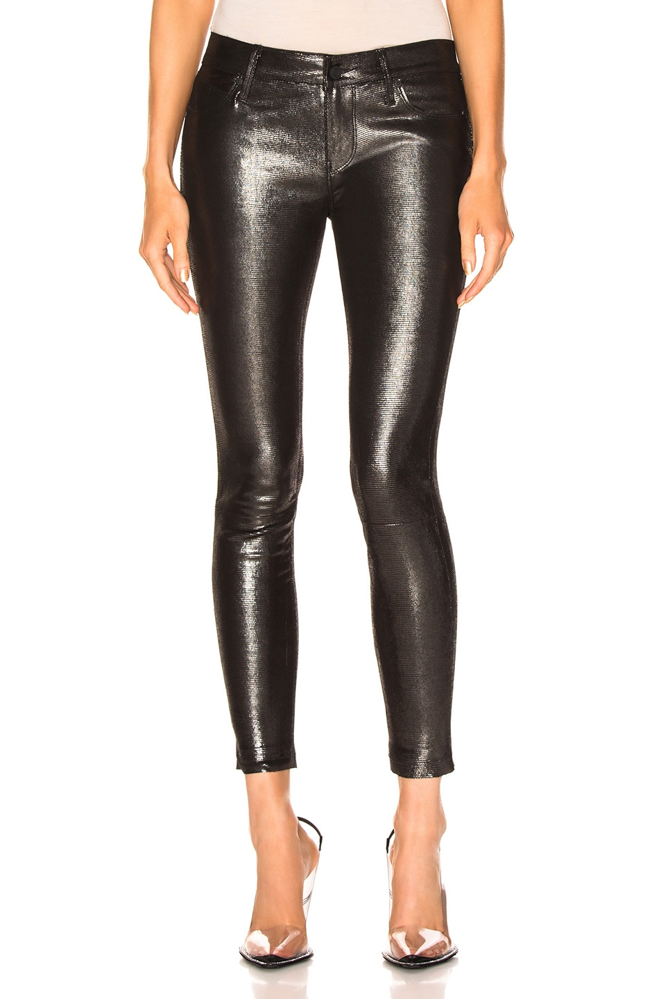 Image 1 of RtA Leather Prince Pant in Lithium