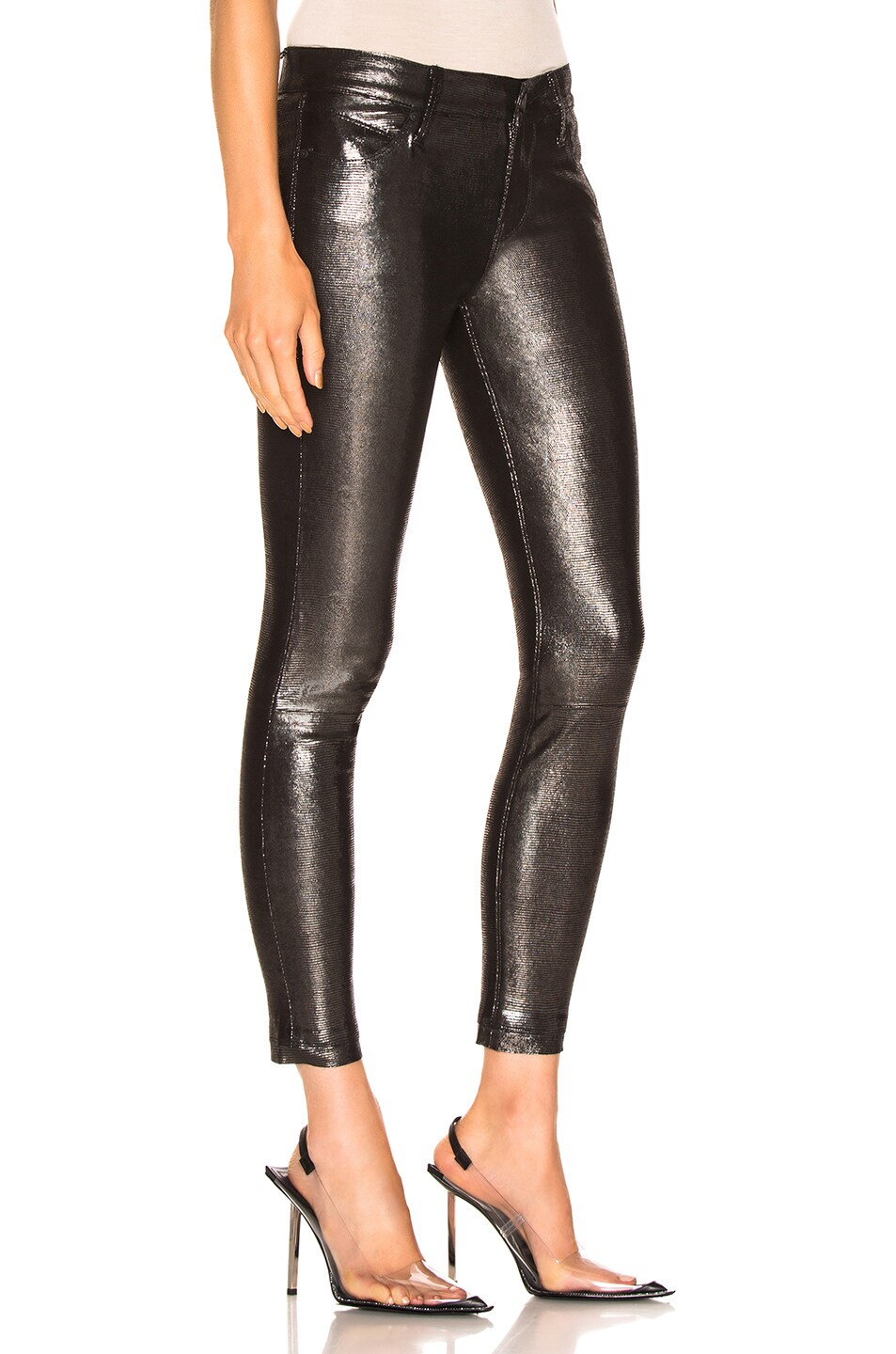 Image 2 of RtA Leather Prince Pant in Lithium