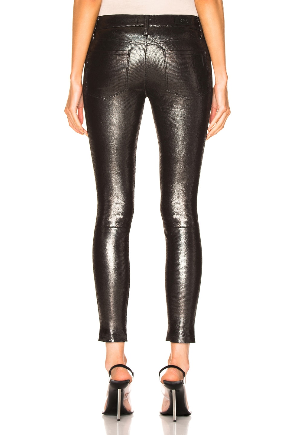 Image 3 of RtA Leather Prince Pant in Lithium