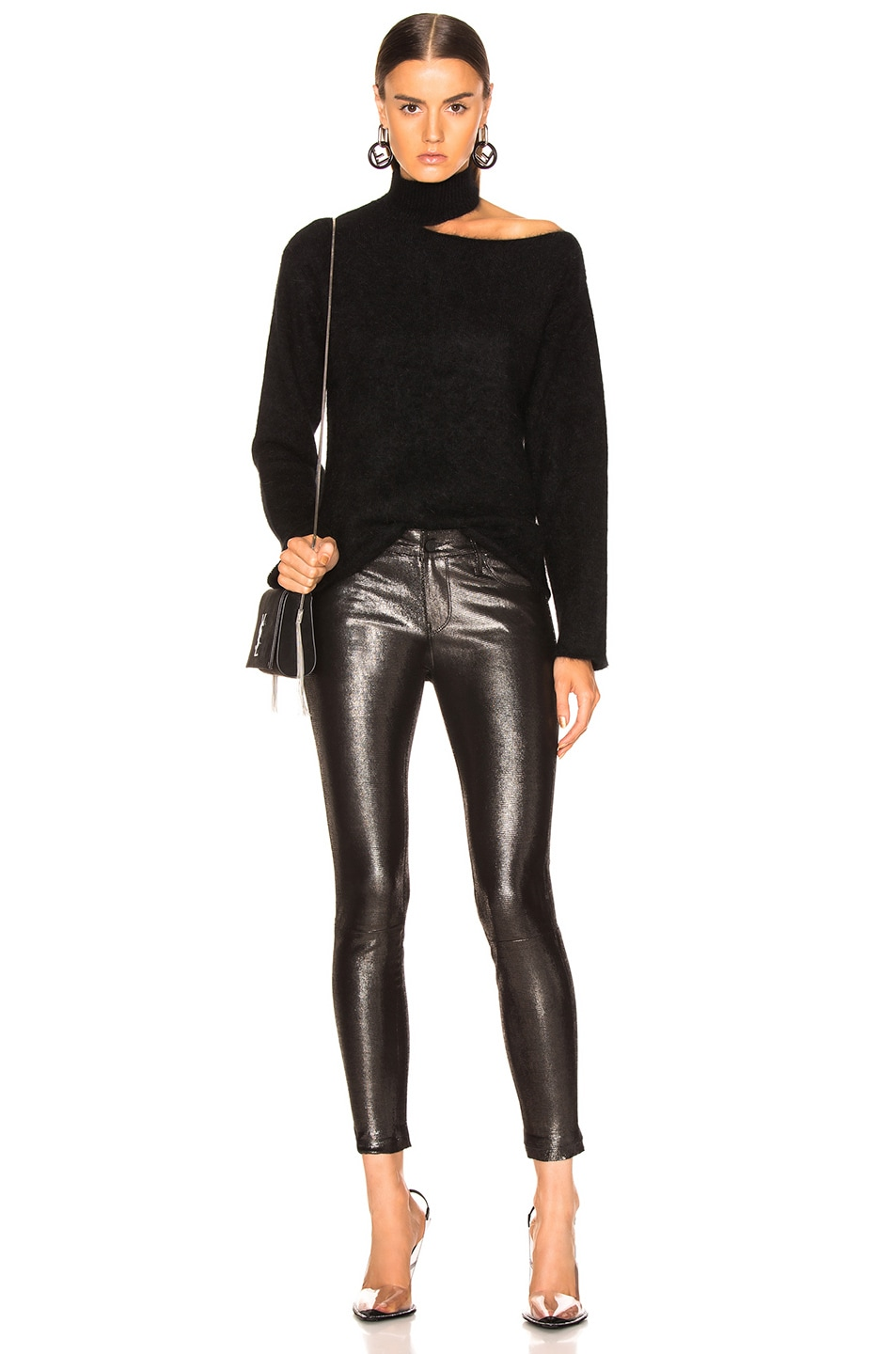 Image 4 of RtA Leather Prince Pant in Lithium