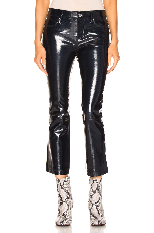 Image 1 of RtA Kiki Leather Pant in Atlantic