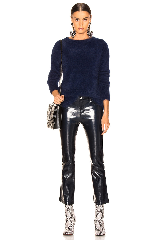 Image 4 of RtA Kiki Leather Pant in Atlantic