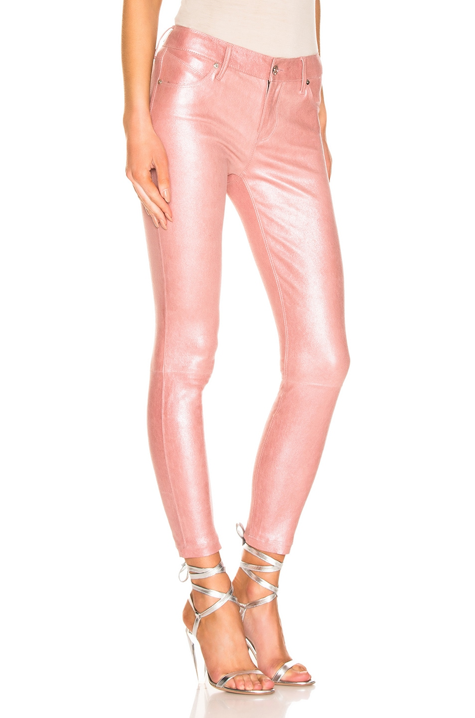 Image 2 of RtA Prince Leather Pant in Blush Perle