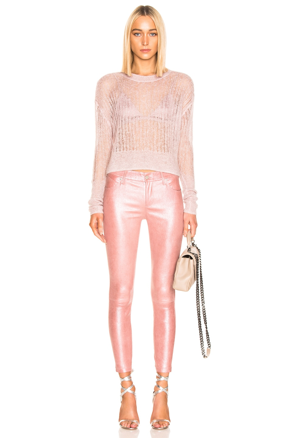Image 4 of RtA Prince Leather Pant in Blush Perle