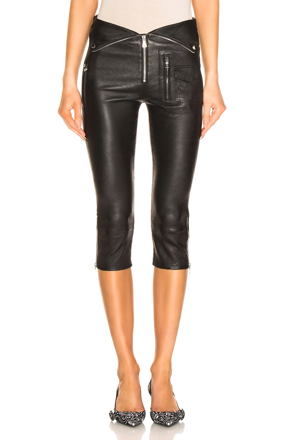 Image 1 of RtA Valentine Leather Pant in Nightlift 2