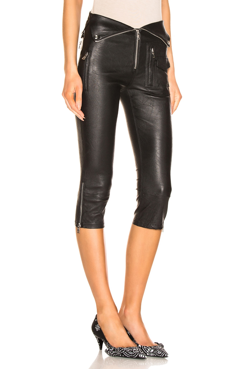 Image 2 of RtA Valentine Leather Pant in Nightlift 2
