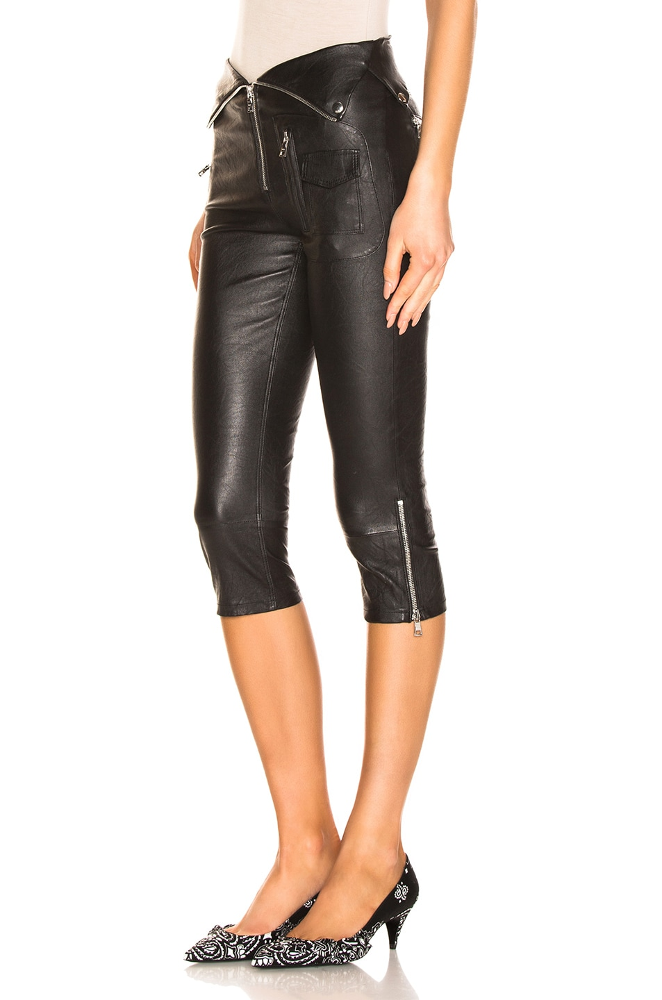 Image 3 of RtA Valentine Leather Pant in Nightlift 2