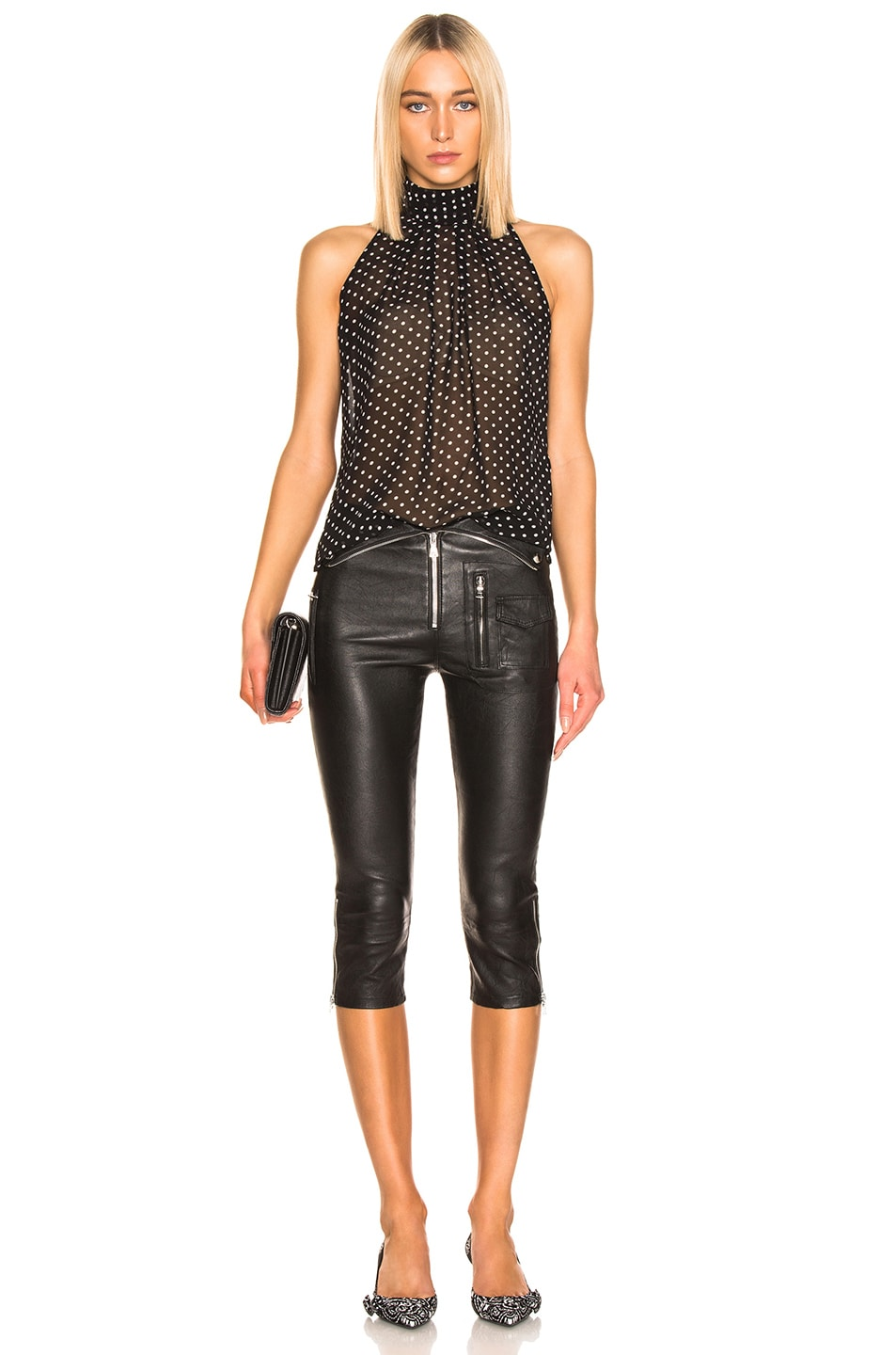 Image 5 of RtA Valentine Leather Pant in Nightlift 2