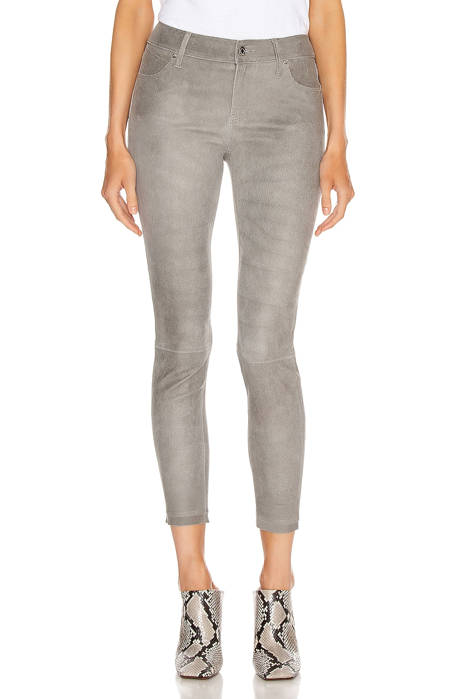 Image 1 of RtA Prince Leather Skinny in Grey