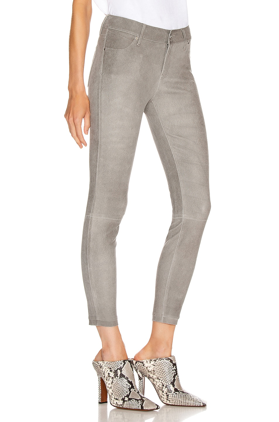 Image 2 of RtA Prince Leather Skinny in Grey