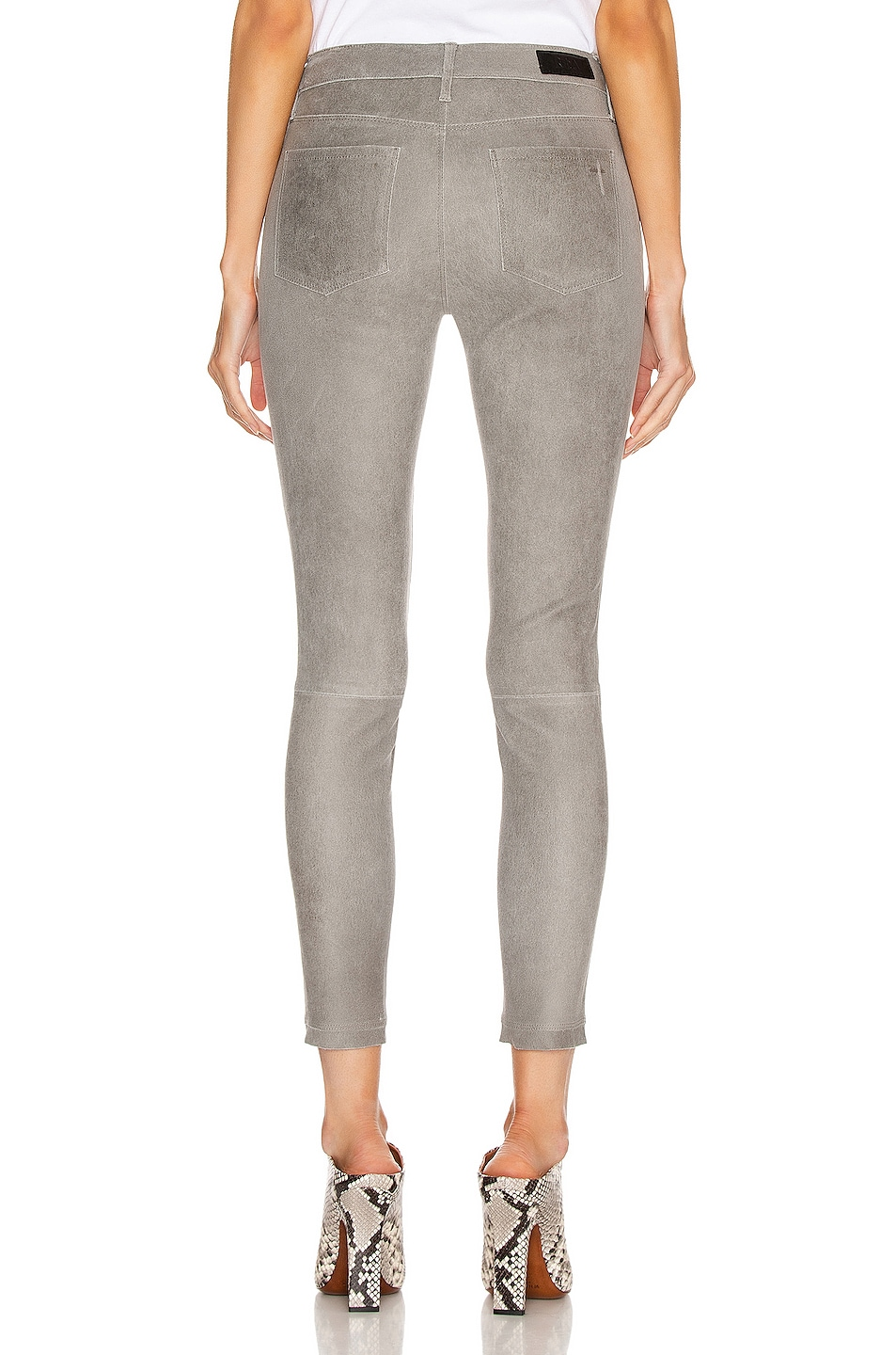 Image 3 of RtA Prince Leather Skinny in Grey