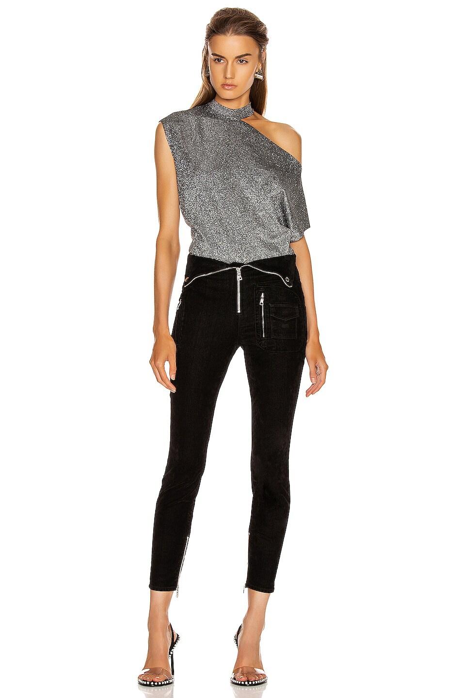Image 5 of RtA Diavolina Skinny in Black Velvet