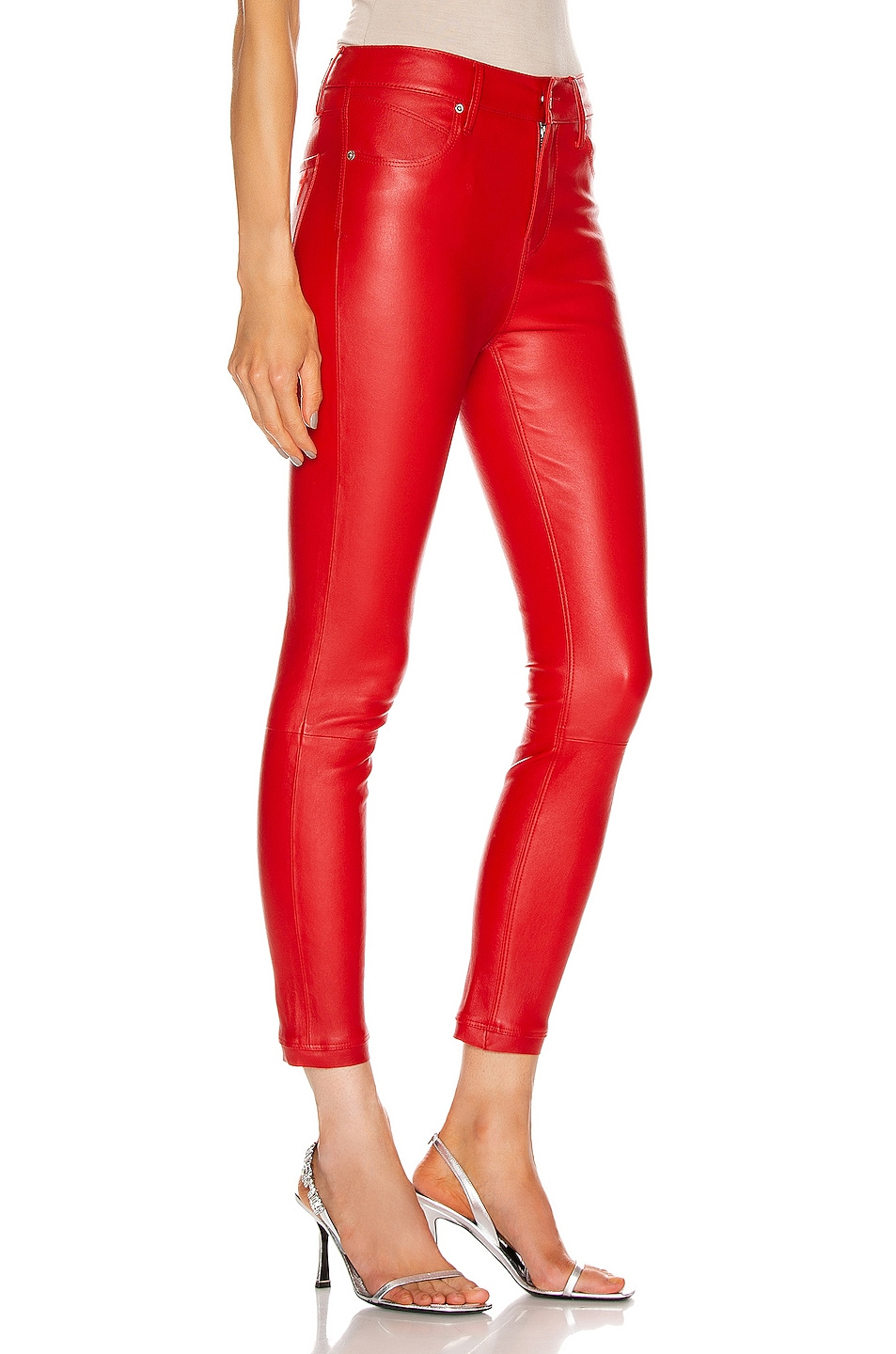 Image 2 of RtA Madrid Skinny Pant in Red Cherry