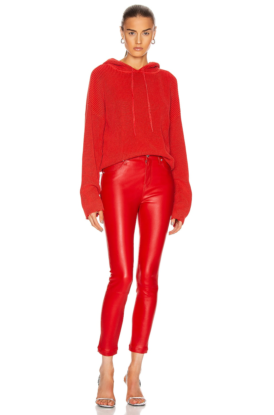 Image 4 of RtA Madrid Skinny Pant in Red Cherry