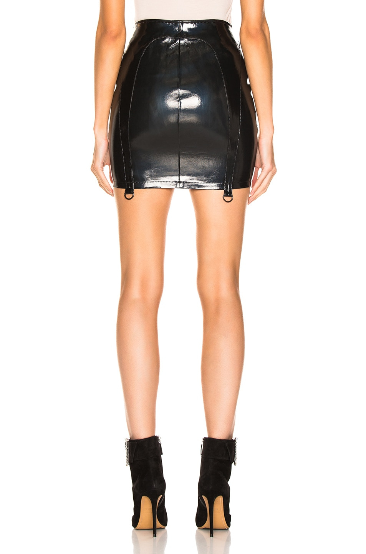 Image 3 of RtA Zander Leather Skirt in Roadster