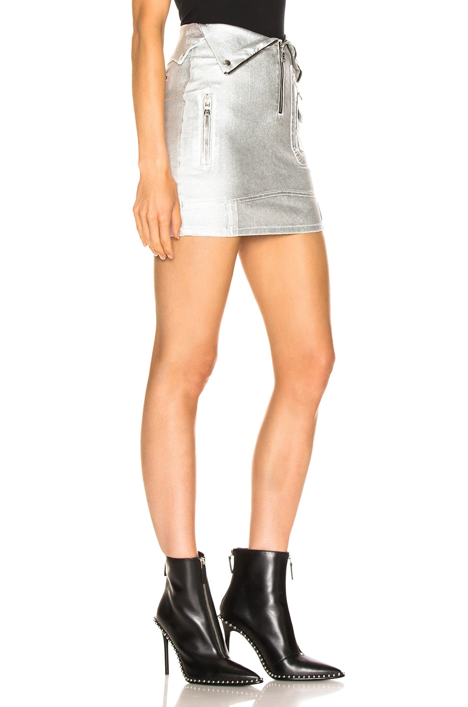 Image 2 of RtA Gisele Skirt in Sound Silver