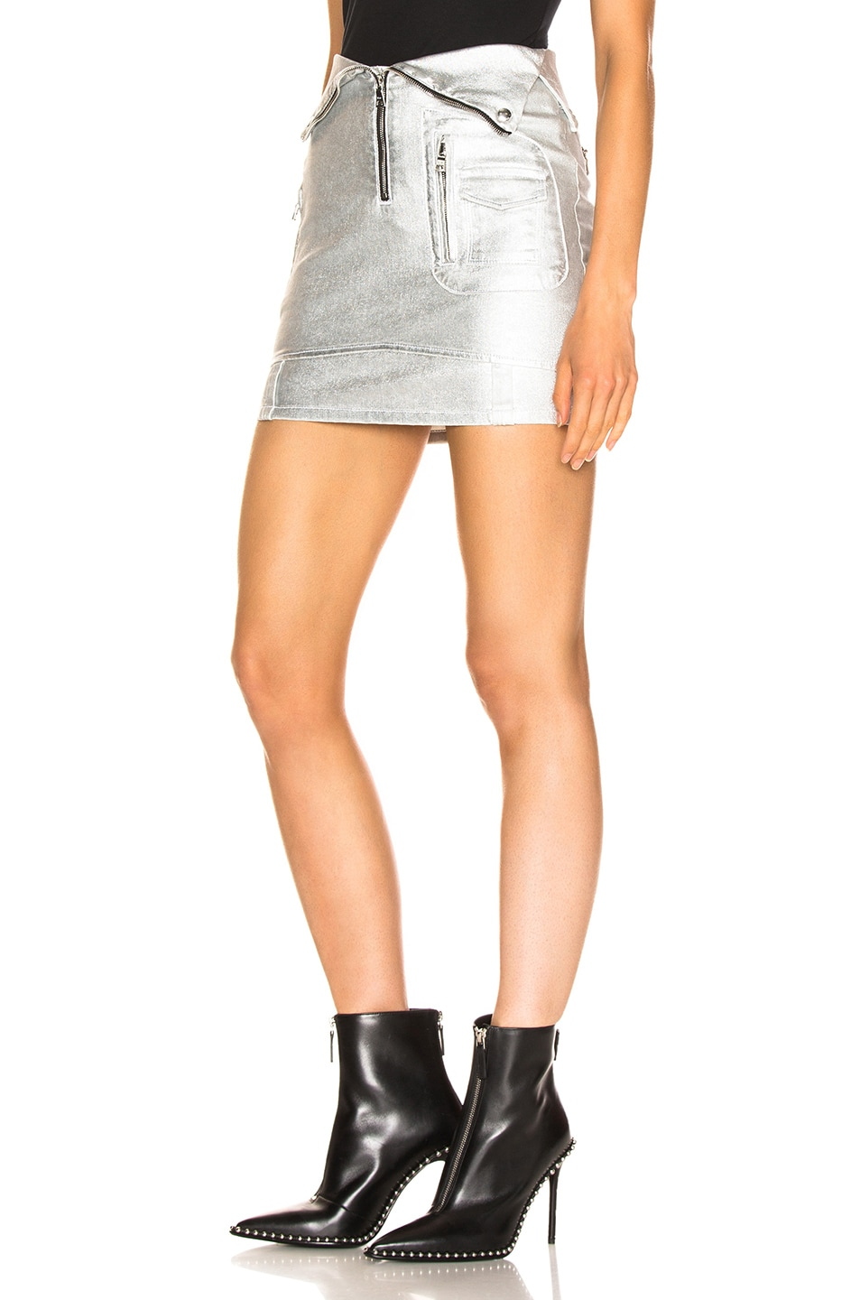 Image 3 of RtA Gisele Skirt in Sound Silver
