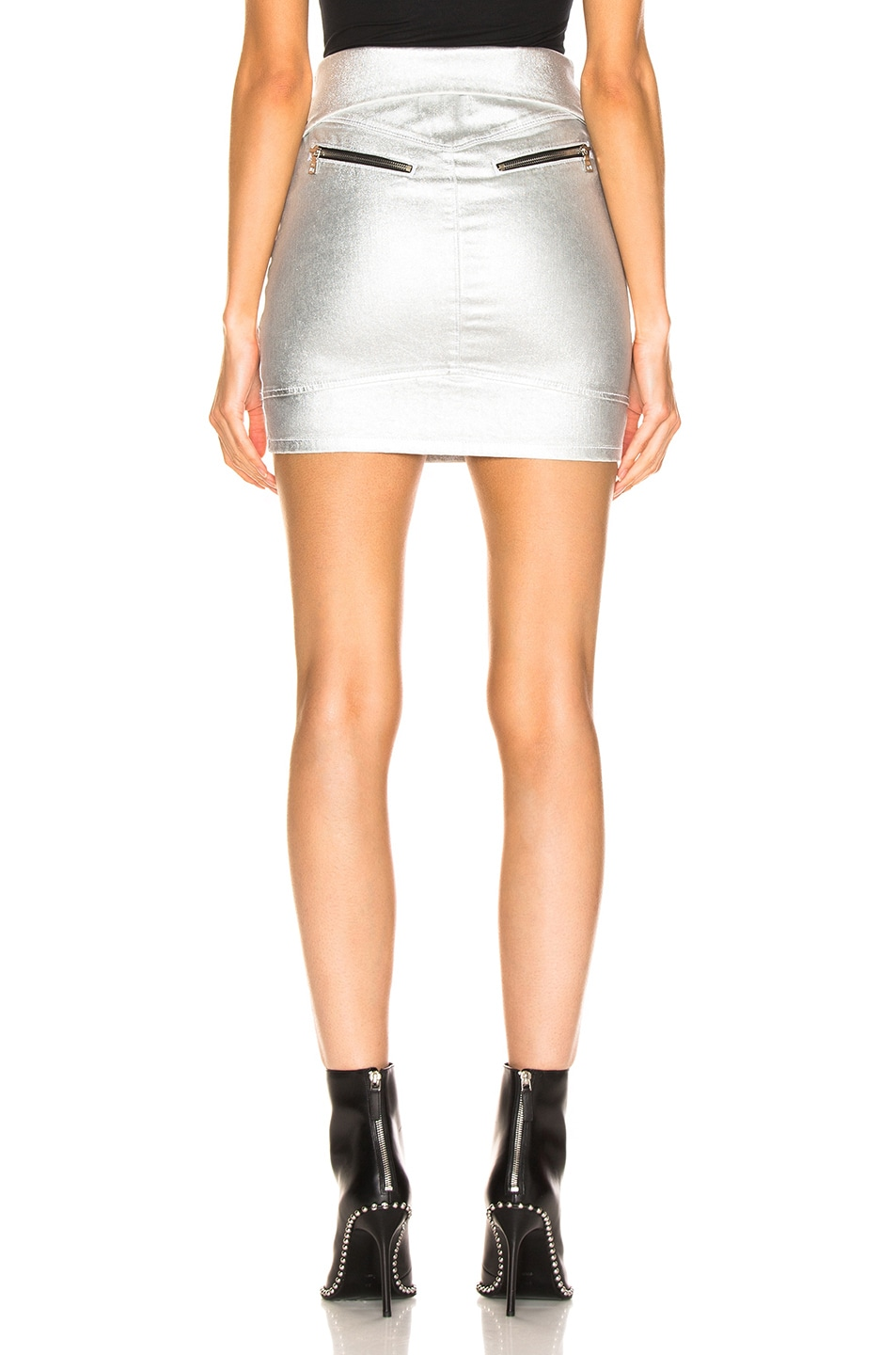 Image 4 of RtA Gisele Skirt in Sound Silver