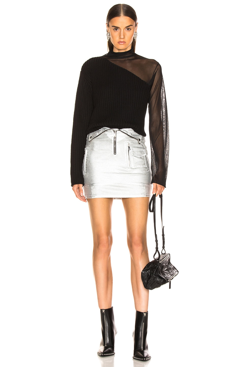 Image 5 of RtA Gisele Skirt in Sound Silver