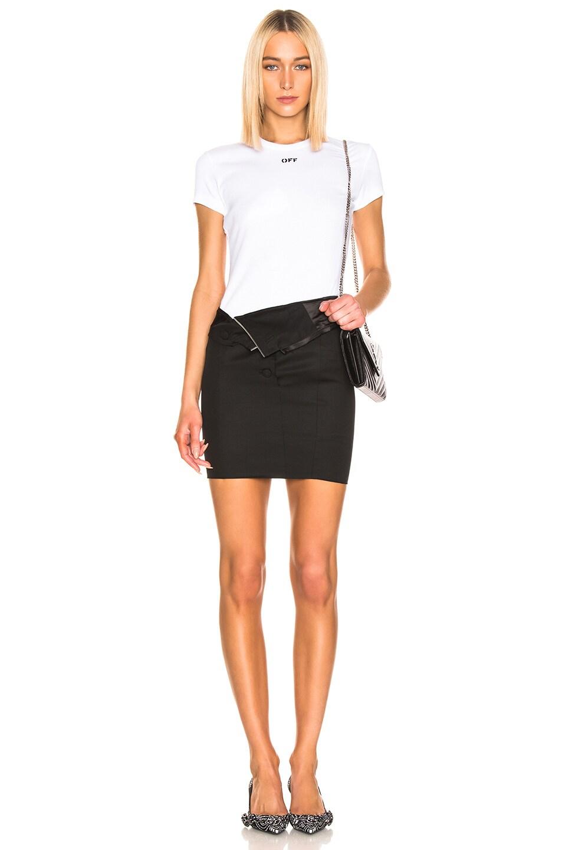 Image 5 of RtA Zandra Skirt in Tailor Black