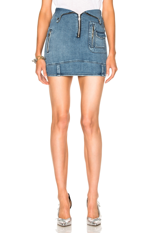 Image 1 of RtA Gisele Skirt in Stone Blue