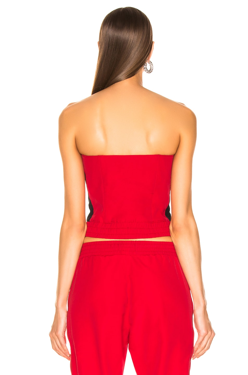 Image 3 of RtA Vicki Bustier Top in Track Red