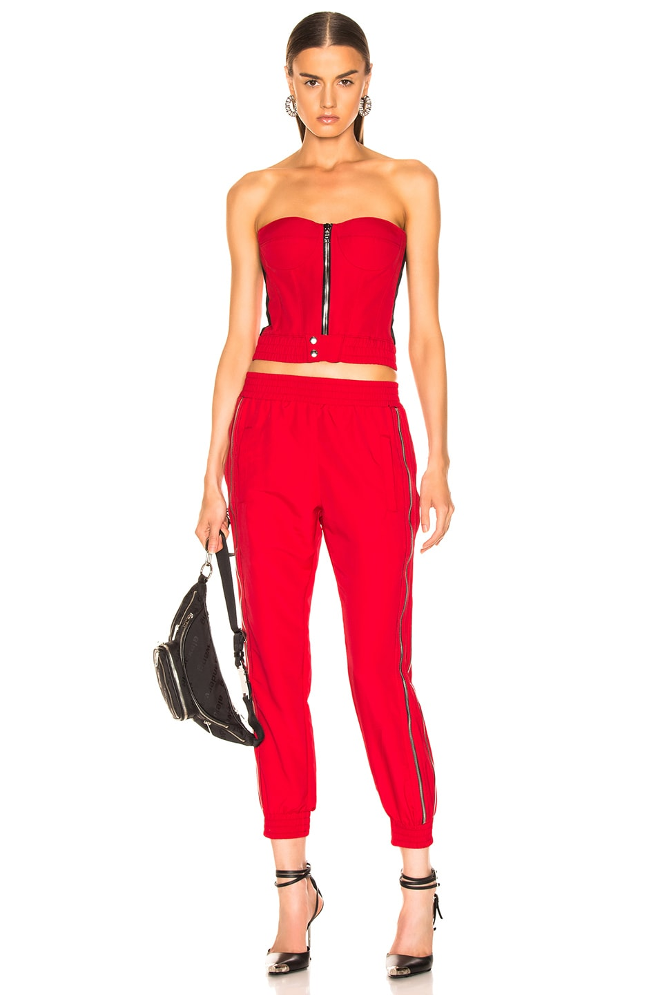 Image 4 of RtA Vicki Bustier Top in Track Red