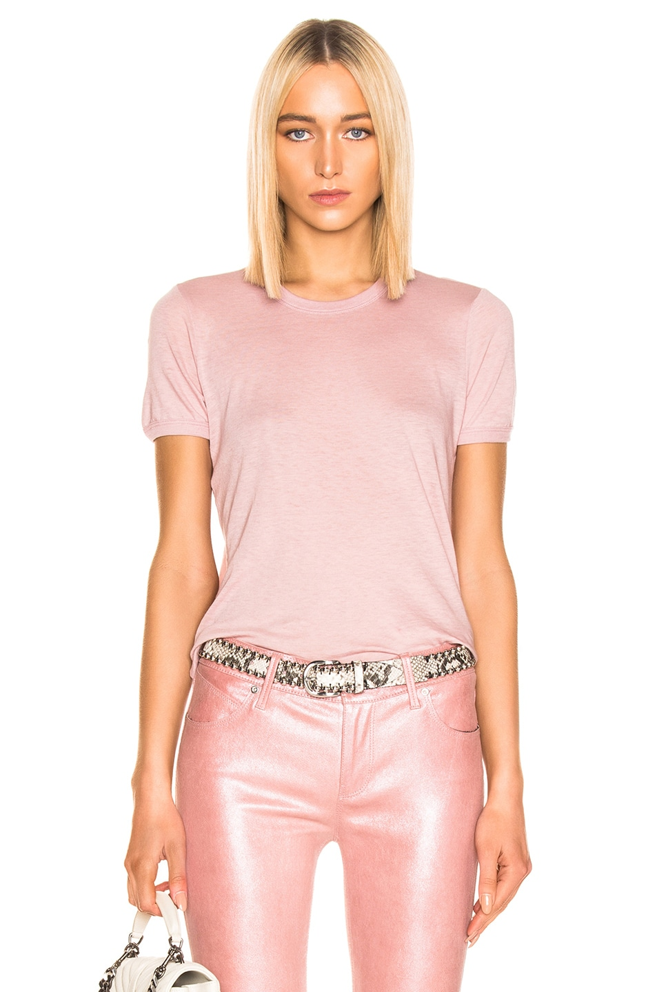 Image 1 of RtA Quinton Tee in Blush