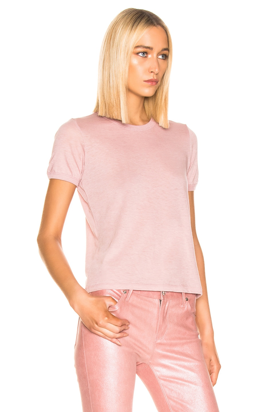 Image 2 of RtA Quinton Tee in Blush