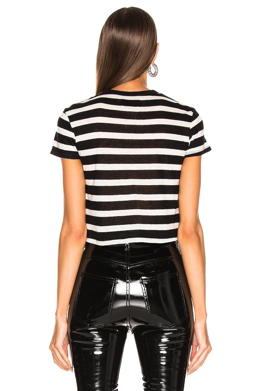 Image 3 of RtA Rain Tee in Black & White Stripe