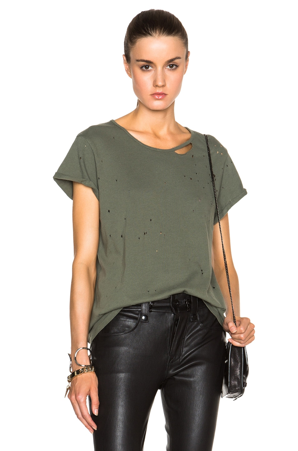 Image 1 of RtA Jewel Tee in Army Green