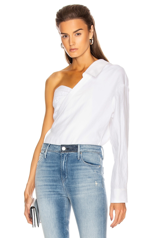Image 1 of RtA Chiara Corset Shirt in White