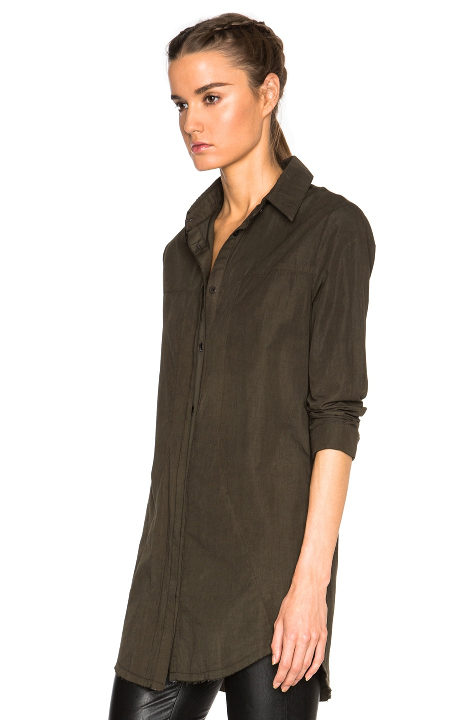 Image 2 of RtA Genevieve Shirt Dress in Jungle