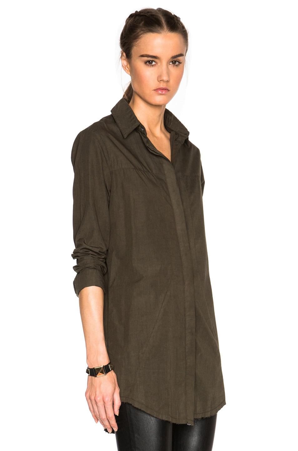 Image 3 of RtA Genevieve Shirt Dress in Jungle
