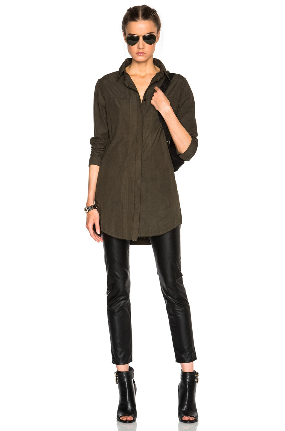 Image 5 of RtA Genevieve Shirt Dress in Jungle