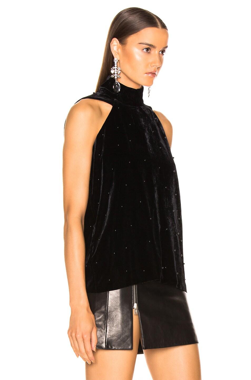 Image 2 of RtA Birdie Velvet Top in Black Pearl