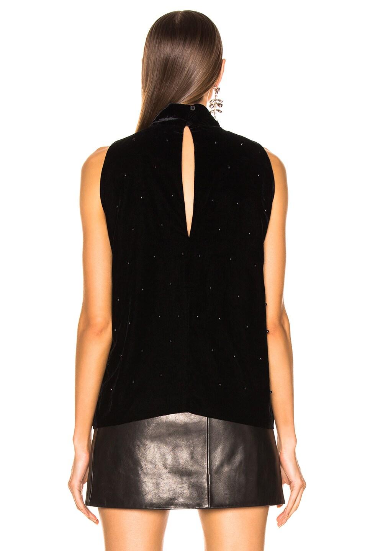 Image 3 of RtA Birdie Velvet Top in Black Pearl