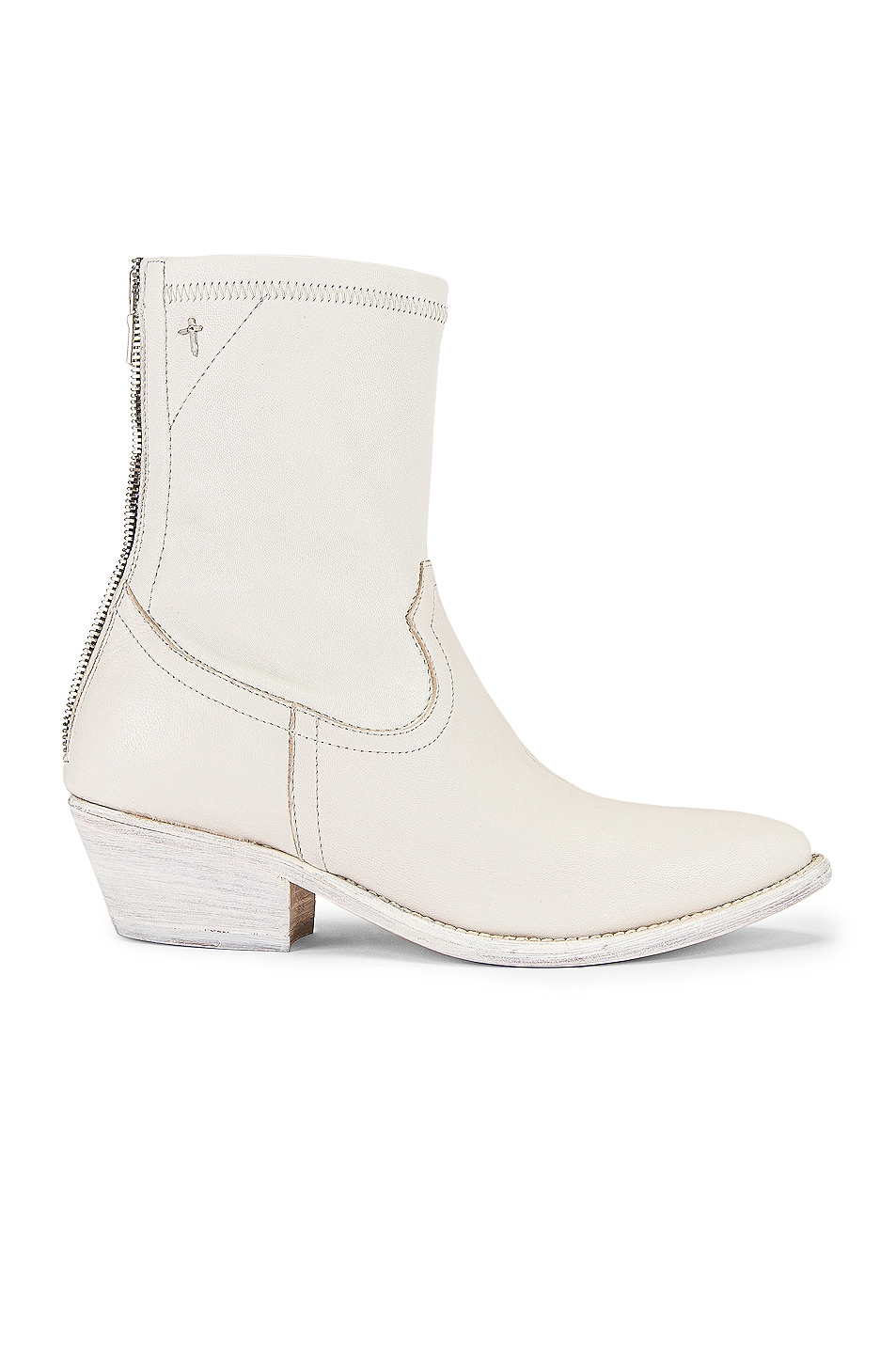 Image 1 of RtA Short Western Boot in White Leather