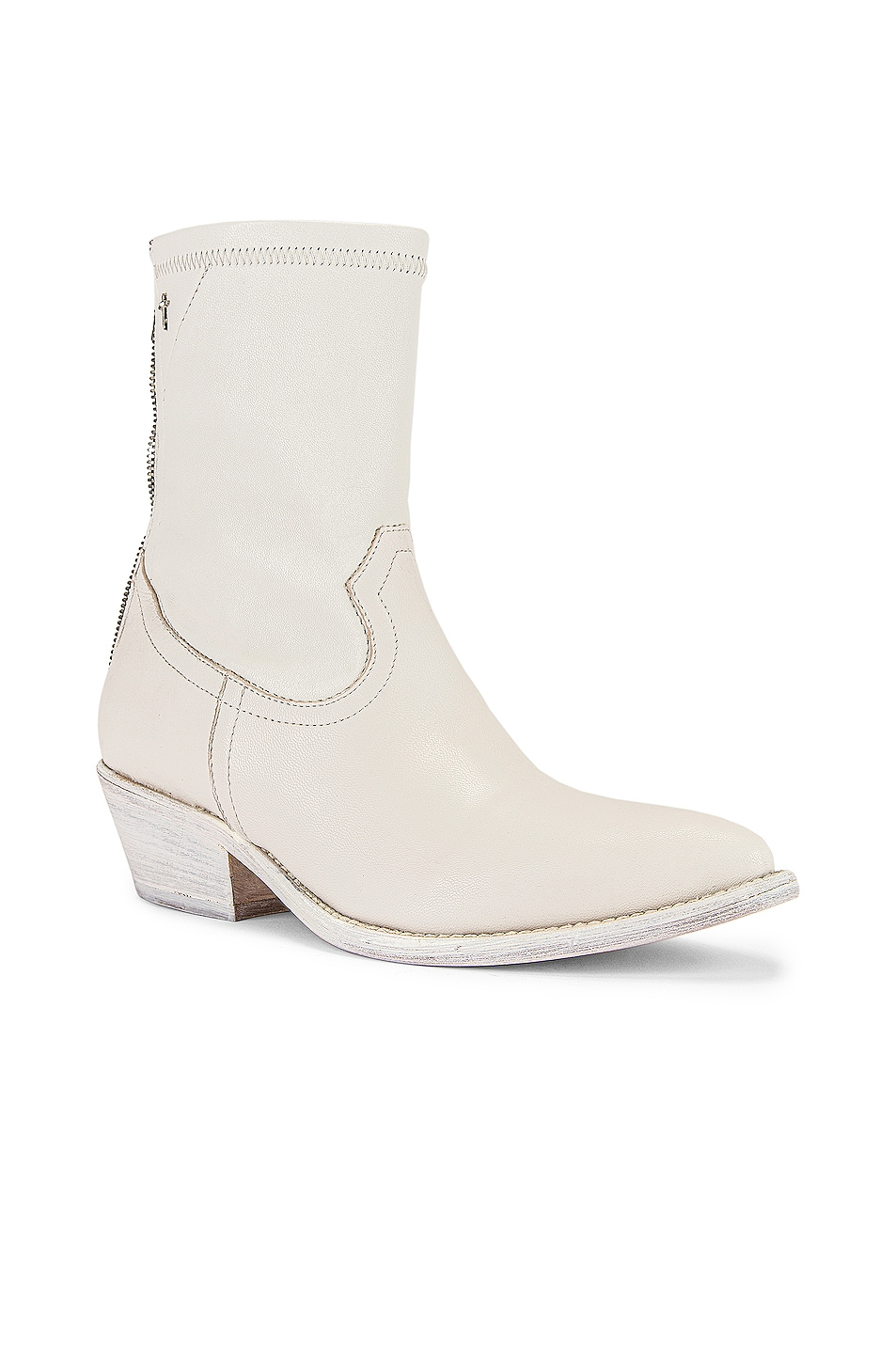 Image 2 of RtA Short Western Boot in White Leather