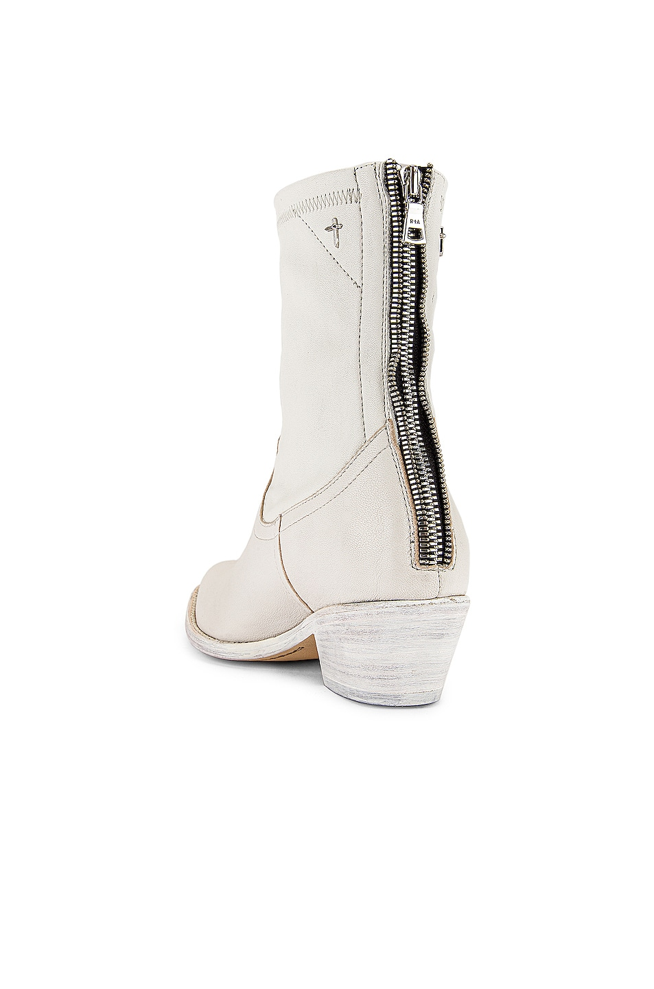 Image 3 of RtA Short Western Boot in White Leather